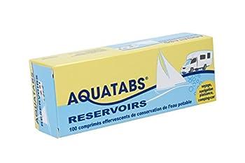 Aquatabs Réservoirs Comprimés effervescents de conservation d'eau potable Bleu/Jaune
