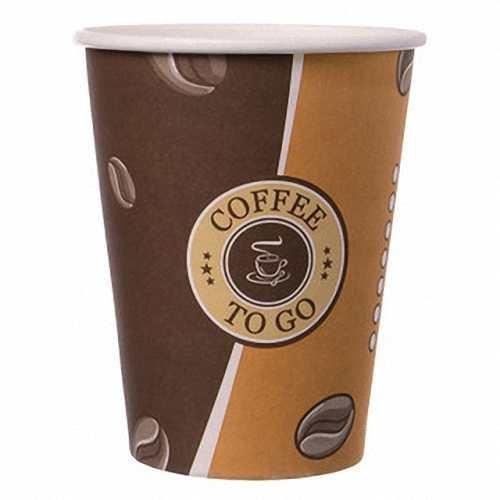Gastro-Bedarf-Gutheil 100 Pappbecher Top Becher für Heißgetränke Coffee to go 0,3 L Becher EINWEG Ideal für Coffee Latte Machiato Cappuccino Chocolate Tea Cream