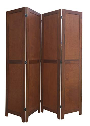 Lowest Prices! Urnporium 4 Panel Wooden Room Divider Partition Privacy Screen 2 Way Hinges