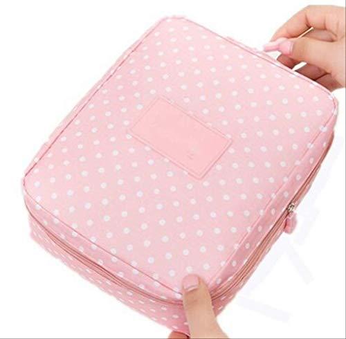 Rangement pour Sac de Maquillage pour Femmes Se précipite en Nylon Floral Zipper New Travel Wash Pouch A