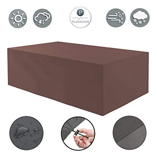 Planesium Housse de protection de qualité supérieure pour meubles de jardin - Housse de protection imperméable et respirante - Indéchirable - 575 g/m - 235 cm x 85 cm x 65 cm
