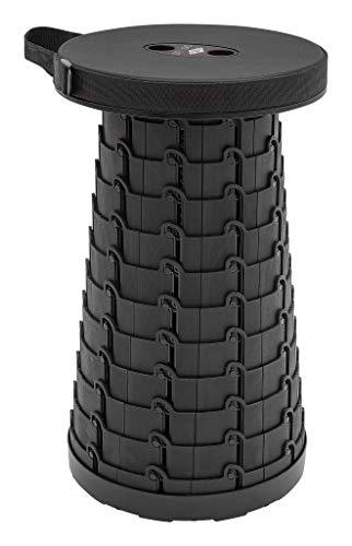 SITTOGO by WEDO 212401 TÜV und GS geprüfter Teleskophocker Teleskop-Hocker, Kunststoff, Schwarz, 25.5 cm, 130