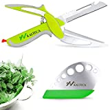 KALTECA Clever Cutter Kitchen Scissors Bundle with Herb Stripper – Smart Cutter 6 in 1 Knife & Cutting Board, Bottle Opener, Peeler – Fast & Easy Manual Food Chopper - Multi-Function Vegetable Slicer