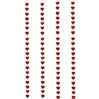 IMIKEYA 4Pcsバレンタインデーストリーマーは、結婚式の婚約独身パーティーのためのホオジロバナーペンダント装飾をぶら下げ赤いハートガーランド生地を感じました