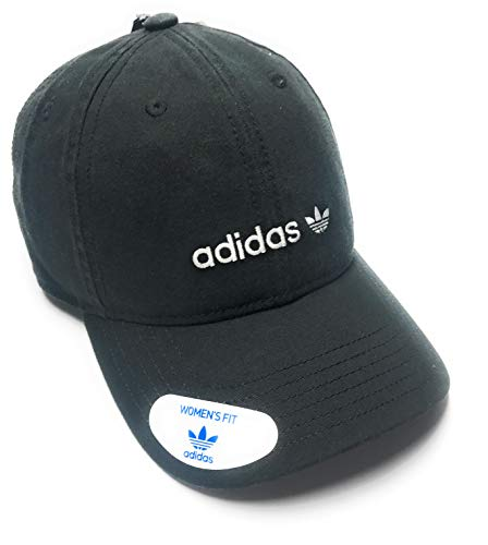 adidas Originals Womens Relaxed Adjustable Strapback Cap, One Size, Black/White Forum