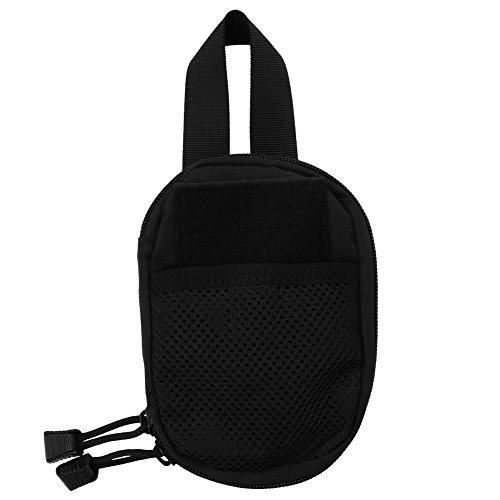 OIHODFHB Negro al aire libre Mini tácticas Molle Militar cintura Pack teléfono caso herramientas bolsa