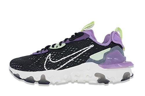 Nike React Vision, Scarpe da Corsa Uomo, Nero(Nero/Dark Smoke Grey/Gravity Purple/Sail), 38.5 EU