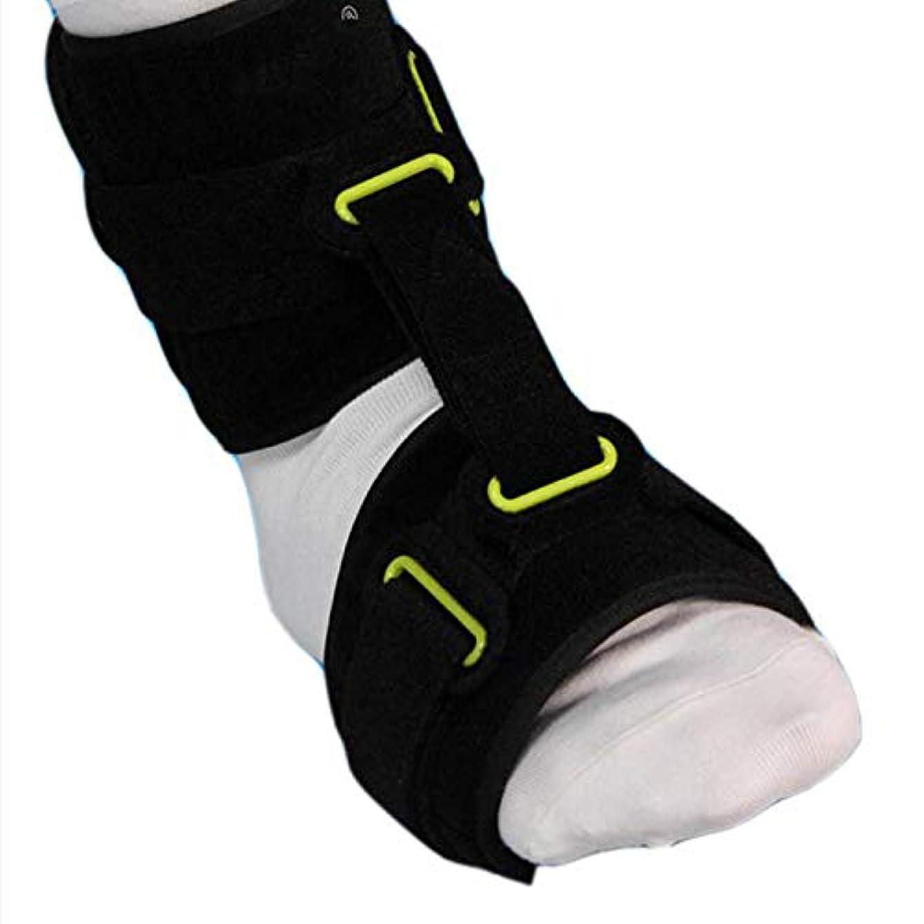 バッジジャニスジェム足首関節フットドロップ装具、調整可能な足首装具補正AFOが足底筋膜炎の昼と夜の副木装具をサポート