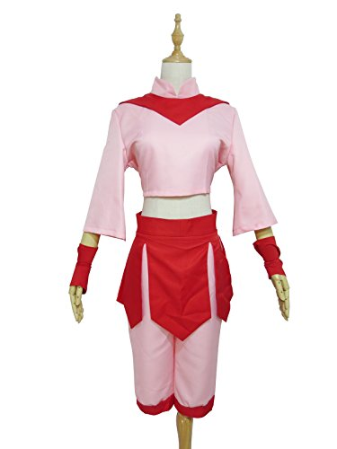 Fire Nation Royal Fire Academy for Girls Ty Lee Pink Outfit Cosplay Costume (Female L)