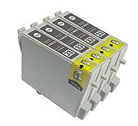 EPSON エプソン IC8CL33 対応 ICBK33 ブラック 互換インクインクカートリッジ 単品4個セット ICチップ付き 残量表示機能付