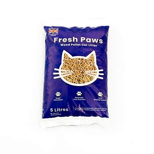 Fresh Paws Premium Wood Pellet Cat Litter, 5 L, Beige