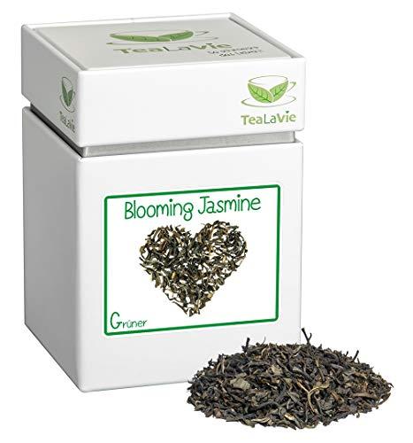 TEALAVIE - Grüner Tee lose | Blooming Jasmine - zarter Jasmin | 100g Dose loser Grüntee