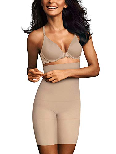 Maidenform Flexees Firm Control High Waist Thigh Slimmer, Style 83047 (X-Large, Paris Nude)