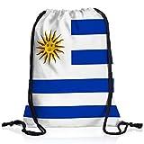 style3 Uruguay Turnbeutel Rucksack Tasche Flagge WM EM Sport Beutel Festival Fahne Uni Schule Bunt
