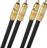 Oehlbach NF 214 Master 100 - Erstklassiges Stereo Audio-Cinchkabel Set - Mehrfach Schirmung,...