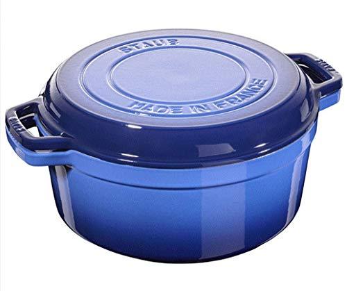 STAUB Cocotte and Grill - Sartén (28 cm, 2 en 1), color azul