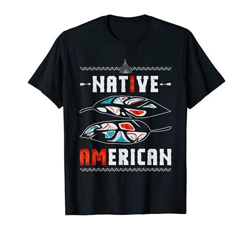 Arte nativo indio americano gernimo mstico pluma nativa Camiseta