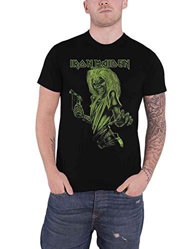 Iron Maiden One Colour Eddie Band Nue - Camiseta oficial para hombre Negro XXL