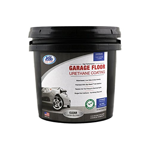 Rain Guard Water Sealers SP-1508 Clear High Gloss Garage Floor Urethane Sealer Single Part Ready to USE Covers up to 200 Sq. Ft. 1 Gallon – Garage Floor Concrete Sealant