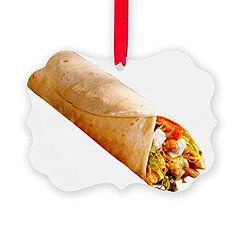CafePress Burrito Picture Ornament Christmas Ornament Decorative Tree Ornament