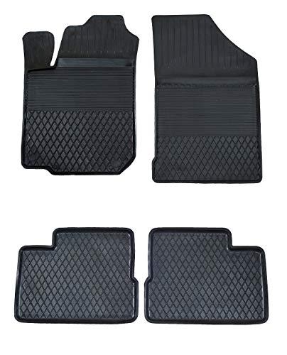 KO-XGUM Gummimatten Fußmatten MIT HOHEM 2.5 cm Rand geeignet zur Hyundai ix20 (Bj. ab 2010) ideal angepasst 4 -Teile EIN Set