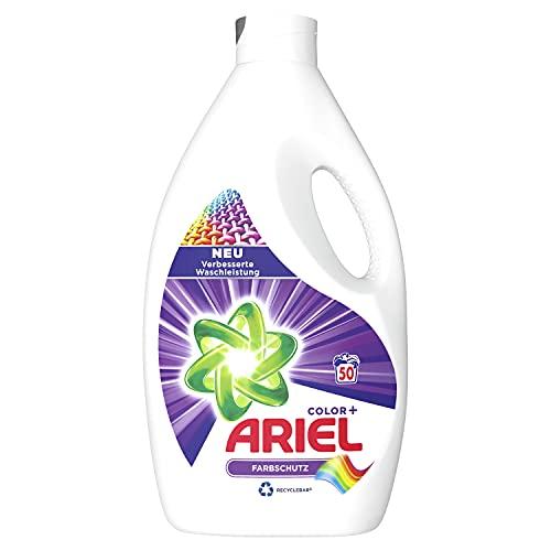 Ariel Waschmittel Flüssig, Flüssigwaschmittel, Color Waschmittel, Farbschutz, 50 Waschladungen (2.75 L)