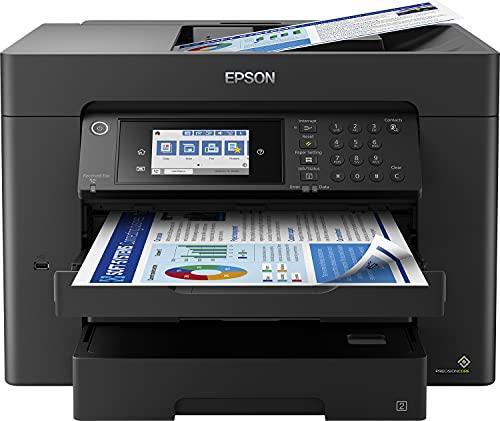 Epson WorkForce WF-7840DTWF 4-in-1 Business Tintenstrahl-Multifunktionsgerät (Drucker Scanner, Kopierer, Fax, WiFi, Ethernet, NFC, Full Duplex, Einzelpatronen, bis DIN A3+) schwarz