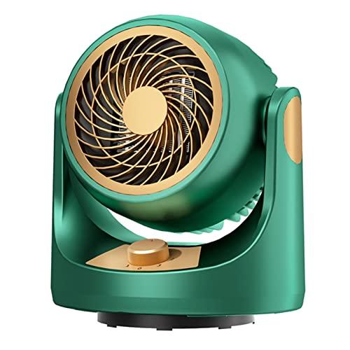 Ldfzq Calentador Portátil De Mesa/Calentador De Ventilador Cerámico PTC De 2000 W/Función De Oscilación/ 3 Niveles De Potencia/Protección contra Sobrecalentamiento (Color : Dark Green)