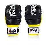 Fairtex FGV18 Super Sparring Grappling MMA Gloves (Black/Yellow, X-Large)