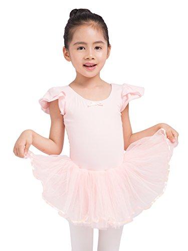 Dancina Toddler Ballet Leotard Dress Petal Sleeve Full Front Lining 2-3T Ballet Pink