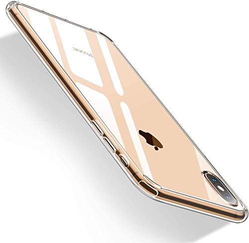 Humixx iPhone XS Hülle, iPhone X Hülle, Anti-Fingerabdruck, Anti-Scratch FeinMatt Federleicht Hülle Bumper Cover Schutz Tasche Schale Hardcase für iPhone XS-Transparent.