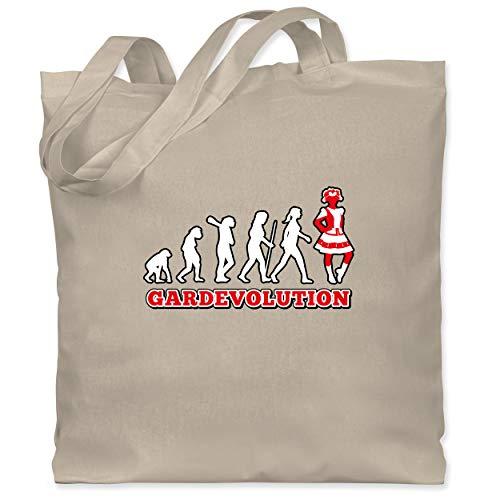 Shirtracer Karneval & Fasching - Gardevolution Garde Evolution Weiß Rot - Unisize - Naturweiß - Tanzmariechen - WM101 - Stoffbeutel aus Baumwolle Jutebeutel lange Henkel