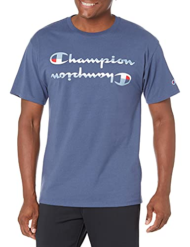 Champion Graphic tee Camiseta, Classic Sky Blue 586596, M para Hombre