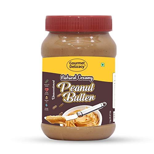Gourmet Delicacy Natural Creamy Peanut Butter (Unsweetened Gultenn Free Vegan) 1 Kg