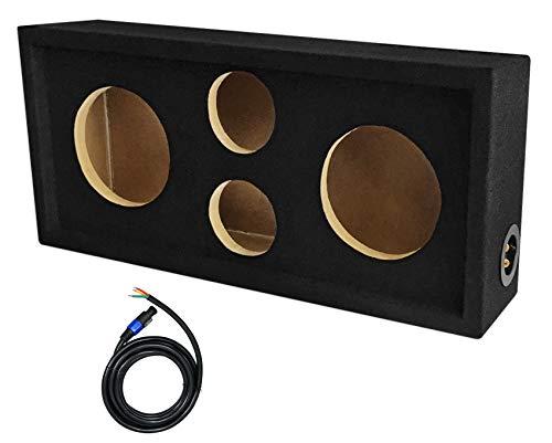 Rockville CH101SP Chuchero Car Audio Enclosure For (2) 6.5  Mids+(2) 3  Tweeters