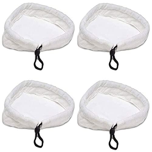 4 Pezzi Panni per Scopa a Vapore, Microfibra Triangolare Pulizia Panni, Panni in Steam Mop Riutilizzabili e Lavabili, per Scopa a Vapore, Pulizia Domestica, Universale