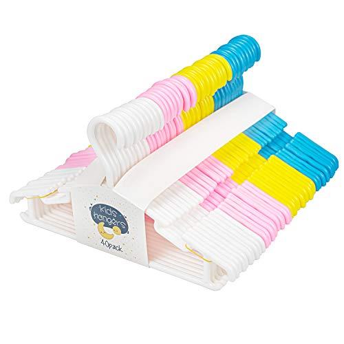 Tebery 40 Stück Kleiderbügel Kinder Baby Kinderkleiderbügel Babykleiderbügel Kunststoff Hangers AufbewahrungSchrank Kleidung Länge 27,5...