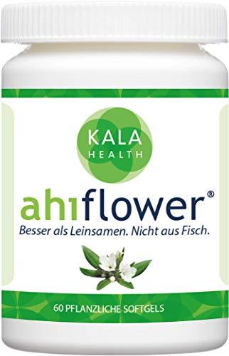Kala Health - Ahiflower Öl, 60 vegane Kapseln mit Omega 3, 6, 9 Fettsäuren die vegane Alternative für Krill Öl und besser als Fischöl