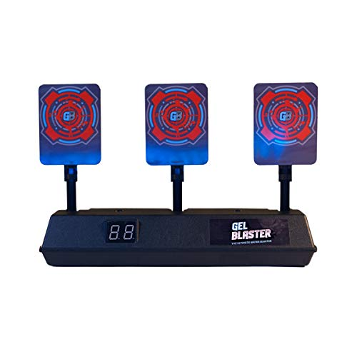 Gel Blaster Auto Resetting Target for Gel Blaster Toy Blasters – Great for Target Practice when Shooting Gellets – Features Electronic Scoring, Auto Reset Panels & Alerts - Kids, Boys & Girls Ages 12+