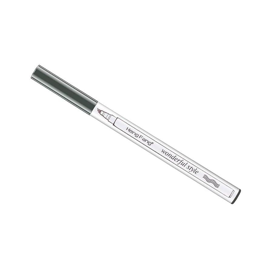 波失業者徴収CUTICATE 自動回転 ペンシル 眉ペンシル 眉毛鉛筆 3色セット 防水 長持ち 耐汗性 - 濃い灰色