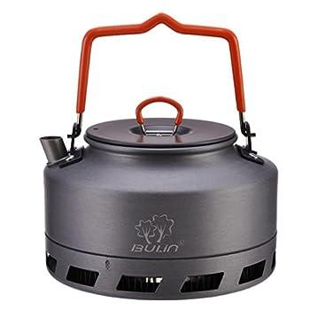 Tentock Bouilloire de Camping en Aluminium Dur Portable de Pot de thé de Chauffage Rapide Extérieur de 1L / 1.6L(1.6L)