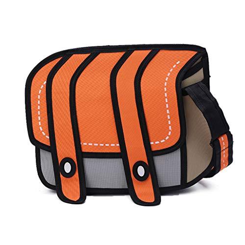 Chaoxiner Mochila de dibujos animados 3D, estilo 3D, bolsa de dibujos animados 2D, bolsa de cómic, bandolera para niños y niñas