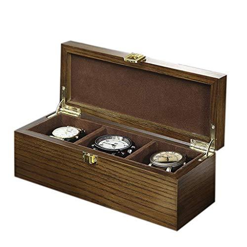 GFDFD Caja de almacenamiento - Caja de reloj de 3 bits Caja de reloj de madera creativa Caja de colección for el hogar Caja de exhibición de pulsera Caja de colección Caja de almacenamiento Caja de jo