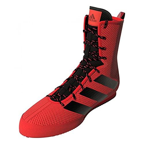 adidas Box Hog 3 Boxing Trainer Shoe Boot Red/Black - UK 5.5