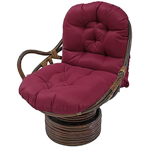 Schaukelstuhl Auflage Polster Kissen 120x60 Polster für Schaukelstuhl Schaukelstuhl Kissen Lounge Sessel Kissen für Gartenstühle Rückenkissen Polster (Rot)