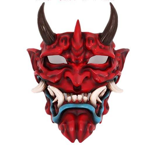 YC Horror Ghost Face Mask, Adult Fancy Dress Party Party Cosplay Dress Up Disfraces, Los Cdigos Unisex Son Adecuados para Todo Tipo De Emociones para Varias Ocasiones,Rojo