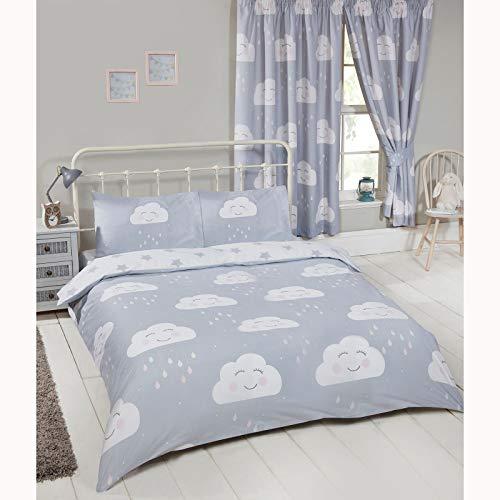 Price Right Home Happy Clouds - Juego de funda de edredón y funda de almohada para cama de...