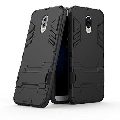 YHUISEN 2 in 1 Armatura del ferro stile duro protettivo duro protettivo duro protettivo duro protettivo con custodia antiurto per Samsung Galaxy C8 / C7 2017 / J7 Plus ( Color : Black )
