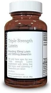 Pureclinica Luteína 30 mg x 90 Comprimidos. Con 1000mcg Zeaxantina Por Comprimido. 3 X La Fuerza