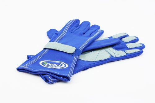 Speed Karthandschuhe F1-Style Blau, Größe:12